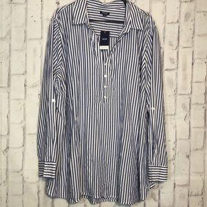 NWT IZOD Stripes Weekend Shirt